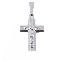 Krzyżyk srebrny z wizerunkiem Jezusa  MO078