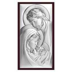 Obrazek Srebrny Święta Rodzina drewniana ramka 6380WM