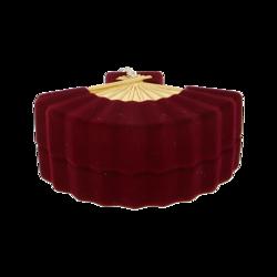 Pudełko flokowane bordowe P5/BORDO