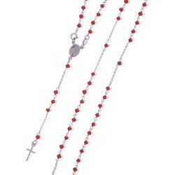 Różaniec srebrny - 5 dziesiątek na szyję 7,2-8,2 g, srebro pr. 925 RC010