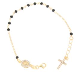 Różaniec srebrny pozłacany - bransoletka różańcowa na rękę, dziesiątka, 3,4-4,2 g, srebro pr. 925 BRS52