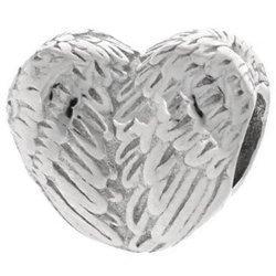 Srebrna przywieszka pr 925 Charms serce ze skrzydeł PAN013