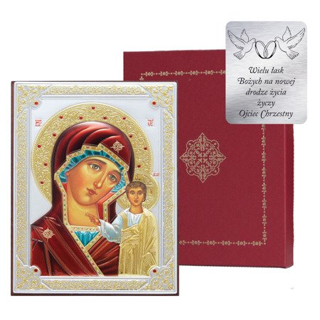 Ikona srebrna Matka Boska Kazańska 31175DA