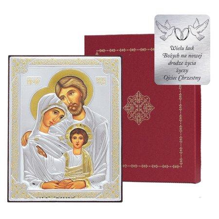 Ikona srebrna Święta Rodzina 31172OROA