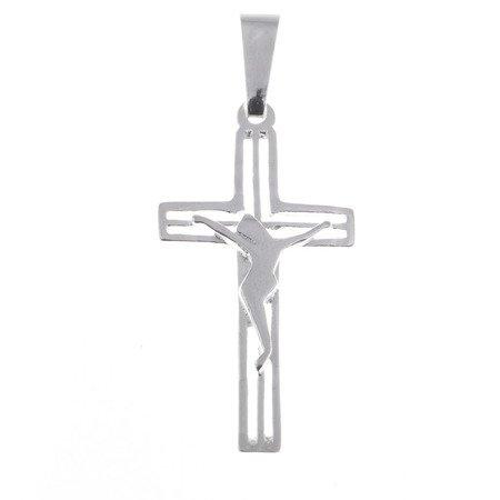 Krzyżyk srebrny z wizerunkiem Jezusa  MO059