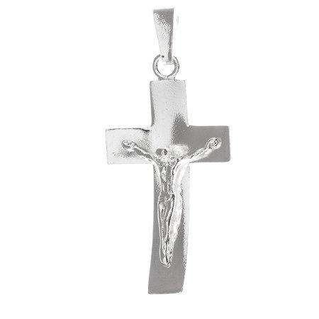 Krzyżyk srebrny z wizerunkiem Jezusa  MO092