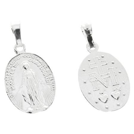 Medalik srebrny - Matka Boża Niepokalana Cudowny medalik MM031