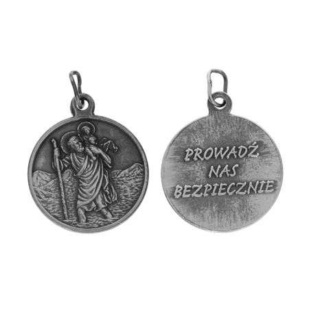 Medalik srebrny - Święty Krzysztof ML004