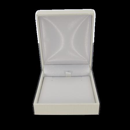 Pudełko skórzane białe 8x7cm PDH-6/A1 BIAŁE
