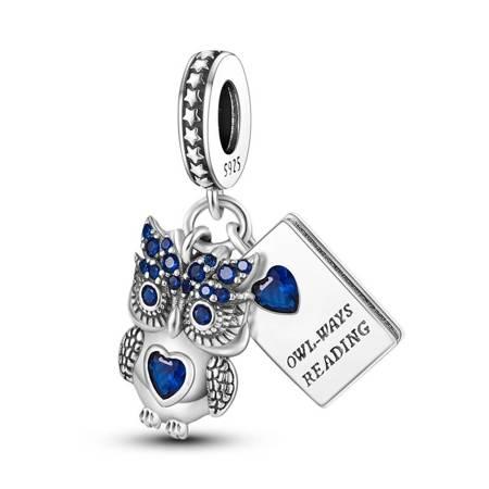 Srebrna przywieszka pr 925 Charms kulka nieskończoność PAN066