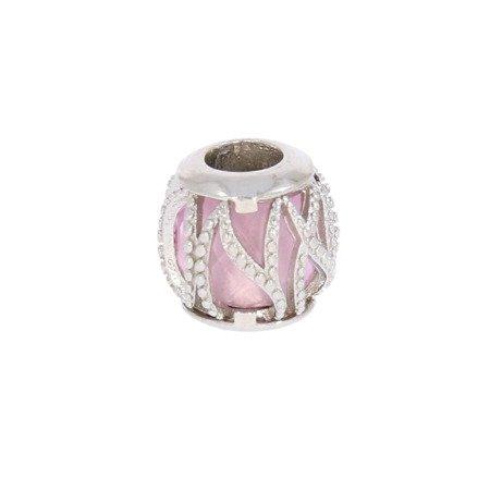 Srebrna przywieszka pr 925 Charms kulka różowa esy floresy PAN069