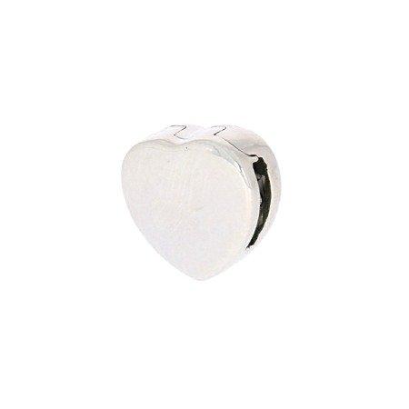 Srebrna przywieszka pr 925 Charms płaski serce pełne PANP006