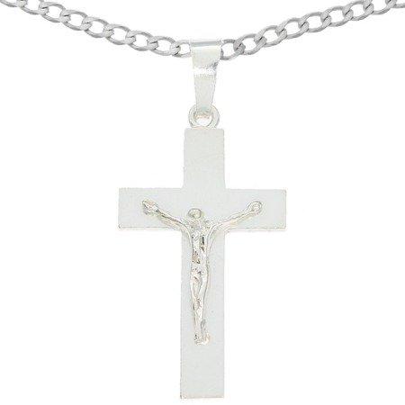 Zestaw srebrny pr. 925 krzyżyk z łańcuszkiem MO142/L50GRF6-50