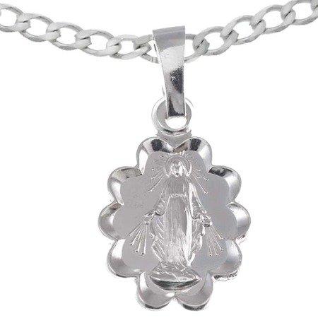 Zestaw srebrny pr. 925 medalik Matka Boża Niepokalana Cudowny medalik, łańcuszek MM004/L50GRF6-45