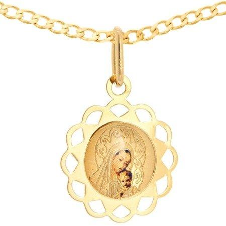 Zestaw złoty pr. 585 medalik z łańcuszkiem ZM074/ZL019-45