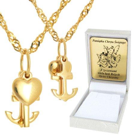 Złoty łańcuszek z krzyżykiem pr. 585 ZK036/ZL017-50/PZH-3/NA/A1/GZ
