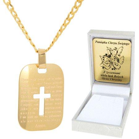 Złoty łańcuszek z krzyżykiem pr. 585 ZK053/ZL013-45/PZH-3/A1/GZ