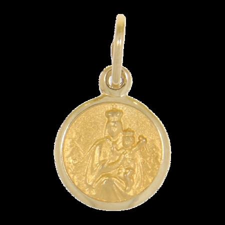 Złoty medalik pr. 585 M.B. Szkaplerzna koło ZM032